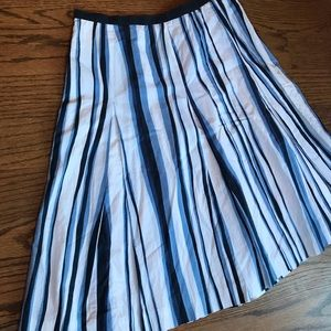 Gorgeously crafted blue and whites striped skirt